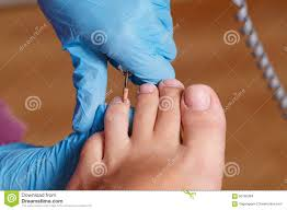 pedicure spa salon shaping nails and cuticles hardware manicur