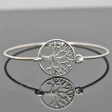 bangle charm bracelet sterling silver images Tree of life bangle sterling silver bangle tree of life bracelet jpg