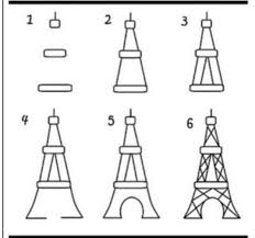 how to draw the eiffel tower diy pinterest tower drawings
