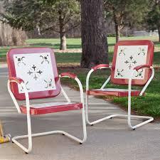 Metal Patio Furniture - patio retro metal patio furniture home interior design