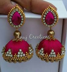 thread earrings 27 best silk thread earrings images on thread bangles