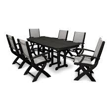 Mainstays Wicker 5 Piece Patio Dining Set Seats 4 - hampton bay woodbury 7 piece patio dining set with textured sand