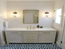 Navy Blue And White Bathroom by Small Blue Rug On Brown Ceramic Floor Tileblue Bathroom Tiles