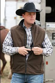 cinch men u0027s brown bonded conceal carry pocket western vest
