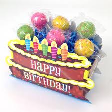 Nashville Gift Baskets Birthday Cake Pops From Candy U0027s Cake Pops In Happy Birthday Basket