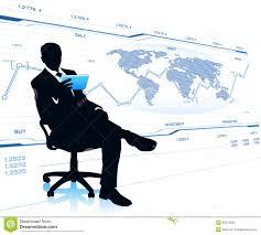 affaires de bureau homme d affaires moderne dans la chaise de bureau image stock