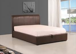 king size ottoman beds uk brown faux leather ottoman super kingsize bed frame