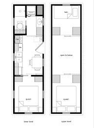 20 Stunning House Plan For Tiny House Floor Plans With Lower Level Beds