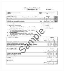 report card template pdf college report card template excel report card template