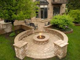 Firepit Bricks Mchenry Unilock Pit Bbq Lake County Il Bluestone Fireplaces