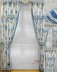 floral print faux silk beige artificial lodge style curtains