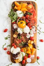 the ultimate caprese salad board the sweetest occasion