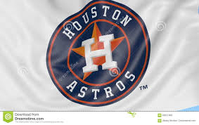 Flags Houston Close Up Of Waving Flag With Houston Astros Mlb Baseball Team Logo