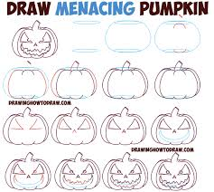 Easy Halloween Drawings For Kids by Huge Guide To Drawing Cartoon Pumpkin Faces Jack O U0027lantern Faces