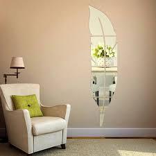 mirror 2 home diy mirror wall art 2 room decor home decor 2 size 3d acrylic feather mirror wall stickers home decor art mural sticker waterproof mirror 2