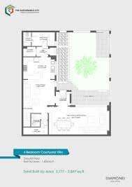 floor plans the sustainable city dubai land by diamond developers