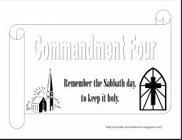 unbelievable commandments coloring page with ten commandments