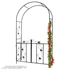 garden rose arch door metal decor trellis archway for climbing