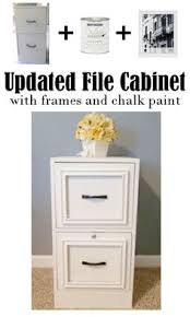painting a file cabinet glue picture frames to file cabinet drawer fronts for an updated