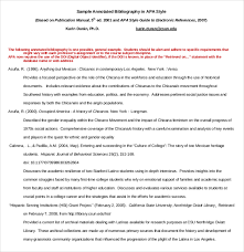 10 free annotated bibliography templates u2013 free sample example
