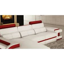 canap d angle en cuir blanc canapé d angle cuir blanc et design avec lum achat vente
