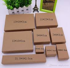 necklace pendant gift box images 2018 kraft paper box gift box for rings pendants necklace jpg