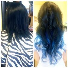 blue hair extensions how to get hair the colors you want without waiting