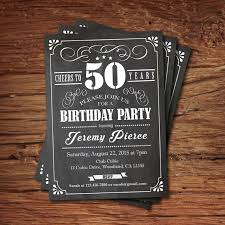 40th birthday chalkboard invitation cheers to 40 year retro