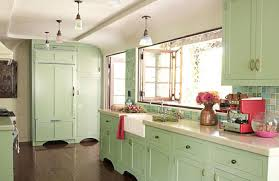 Kitchen Cabinet Vinyl Kitchen Minimalist Green Kitchen Cabinet With White Combination