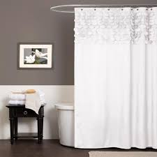 White Shower Curtain Lush Decor Lillian White Shower Curtain Free Shipping On Orders