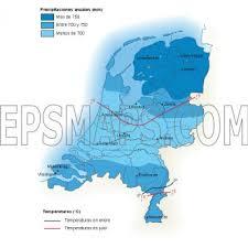 Map Netherlands Netherlands Precipitation Map U2013 Netherlands Country Profile