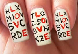 valentine u0027s day special 2 10 love letters nail art tutorial youtube