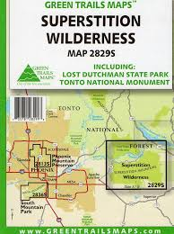 Phoenix Mountain Preserve Map by Amazon Com Superstition Wilderness Including Lost Dutchman State