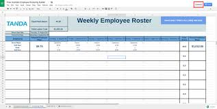 Staff Roster Template Excel Free Free Roster Template For Excel Tanda