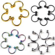 steel lip rings images 10 pcs stainless steel horseshoe bar lip nose septum ear ring stud jpg