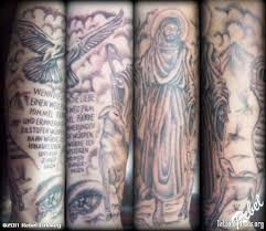 flying dove and jesus sleeve