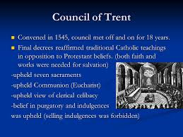Council Of Trent Decree On The Eucharist Calvinism And Counter Reformation Mr Simmons History Ppt