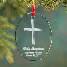 personalized baptism ornament personalized glass baptism ornament christmas ornament
