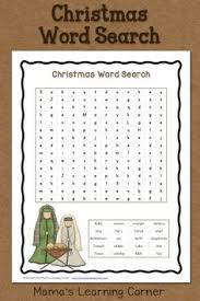 this free christmas printable word search includes some of the
