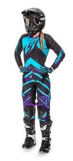 womens motocross gear packages kinetic women s purple blue racewear fly racing professional