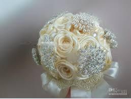 pearl ribbon handmade pearl ribbon ivory brooch bouquet shining brooch