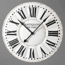 Horloge Murale Ronde Blanche Avec Horloge Murale Geante Maison Du Monde Horloge En Mtal Effet Rouille