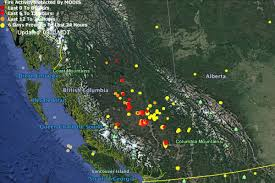 Wildfire Bc Tracker by Eye In The Sky Google Earth View Of Fires Salmon Arm Observer