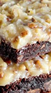 over the top german chocolate brownies scrumptious desserts and