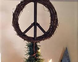 peace sign tree etsy