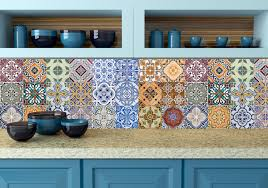 spanish set of 24 tiles decals tiles stickers tiles for walls