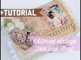 diy tutorial shabby chic altered victorian treasure chest