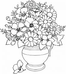 flower in vase drawing colouring in flowers kids coloring europe travel guides com