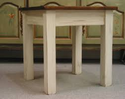 Rustic Side Table End Table Set Bunching Table W Glass Mosaic Tile Rustic