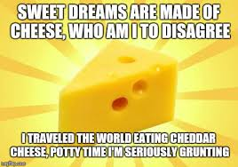 Sweet Dreams Meme - sweet dreams are made of cheese who am i to disagree i traveled